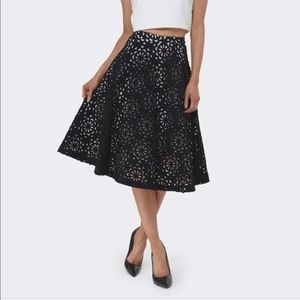 Alice & Olivia Viviana A Line Midi Skirt